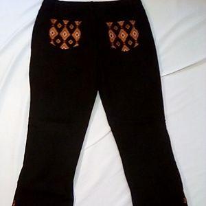 Diane Gilman Jeans - DG2 Diane Gilman Size 14 Black Jeans w/ embroidery